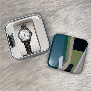 {fossil} silver watch